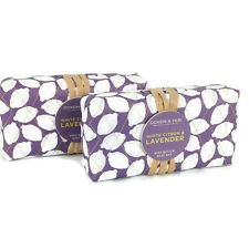 Doxen & Hue Shea Butter Bar Soap White Citron & Lavendar 2-Pack