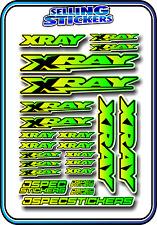 XRAY RC CAR BUGGY STICKER 1/10 1/8 NT1 T4 XB8 RX8 NITRO DRIFT ELECTRIC YEL/GRE B