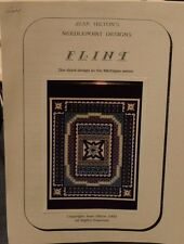 RARE 1992 Jean Hilton Needlepoint Pattern STITCH GUIDE ONLY FLINT