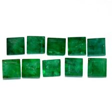 4.39 Cts natural Emerald Square Cut 4 mm Lot 10 Pcs Untreated Loose Gemstones