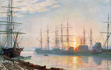 John Stobart Print - Sunrise Over Nantucket in 1835