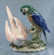 Papagei papagei figur Vogelfigur porzellanfigur porzellanvogel parrot figur,pb