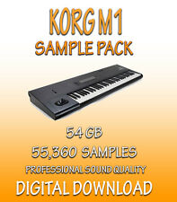 KORG M1 SAMPLES- FOR APPLE LOGIC PRO X, EXS-24 + WAV FORMATS - 51.8 GB *DOWNLOAD