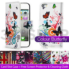 DESIGN PU LEATHER FLIP CASE COVER FOR iPod Touch 5 +SCREEN PROTECTOR