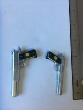 1/6 Scale Dual Chrome Silever 1911 .45 Pistols Comedian Guns