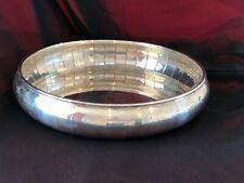 "Vintage massive solid silver bowl place 10"" wide"