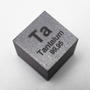 Tantalum Metal Density Cube 10mm 99.95% 16.6g for Element Collection