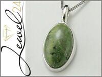 Damen Anhänger echt Silber 925 Sterlingsilber rhodiniert Opal-Katzenauge 3,6 cm