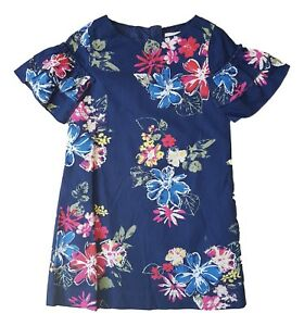 Girls Kids Dress Tunic Mini Party Navy Floral Short Sleeves Ex Chainstore 3-11yr
