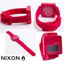 Nixon The Trigital Digital Dial Plastic Quartz Unisex Watch - Bright Pink A163