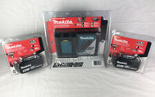 Makita (2) 18V 4.0Ah Batteries & Charger -100% Genuine (New In Retail Packaging)