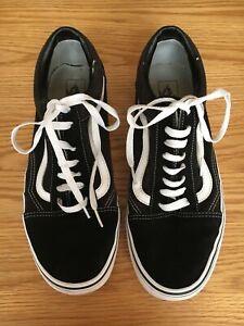 Vans  Black Canvas Shoes Size 10 UK