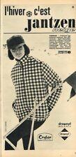 J- Publicité Advertising 1964 Pret à porter vetements de ski manteau Jantzen