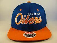 Edmonton Oilers NHL Zephyr Snapback Hat Cap Blue Orange