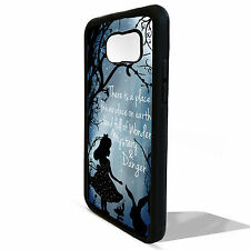 Cover for Samsung Galaxy S6 Alice in wonderland mad hatter quote art rubber case
