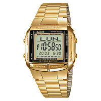 Casio Men's Digital Data Bank Calendar Back light Alarm Stop Watch, Gold, DB-360