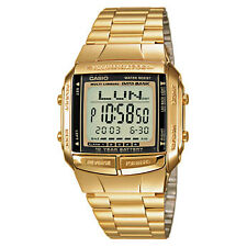 Casio Men's Digital Data Bank Calendar Back light Alarm Stop Watch, Gold, DB-360