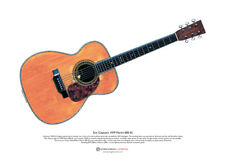 Eric Clapton's Martin 000-42 from the unplugged show ART POSTER A3 size