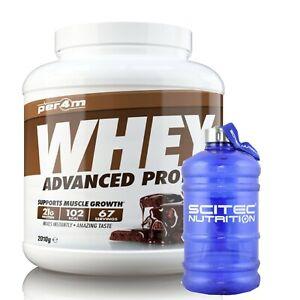 Per4m Nutrition Whey Protein 2kg, Advanced Protein, Gluten Free, & Water Jug