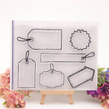 tag  Silicone Clear Stamp Transparent Rubber Stamps DIY Scrapbook  DtF ue