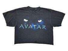 Avatar Glow in The Dark Eyes Crop Top Tee Black Size Womens Cropped T Shirt