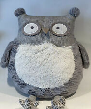 "Pier 1 One Imports Gray Roxie The Owl Plush 17"" Stuffed Animal Pillow"