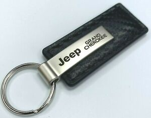 Au-tomotive Gold Key Chain for Jeep Grand Cherokee (Carbon Fiber Black Leather)