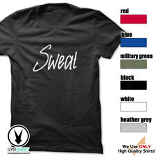 Sweat Gym Rabbit T-Shirt Workout Gym Fitness Weightlifting Motivation E246