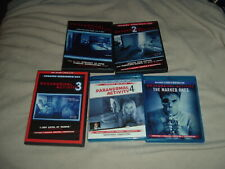 Paranormal Activity 1 2 3 4 + the Marked Ones 5 Film BLU-RAY DVD LOT