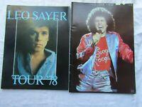 PROGRAMME LEO SAYER X2 1979 and 1978 tour