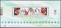 dc. OLYMPIC = VANCOUVER = SKIING, BOBSLEIGH Souvenir Sheet Canada 2010 #2373 MNH