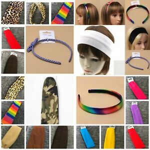Ladies Girls Childrens Pastel Rainbow Colour 2.5cm Wide Hair Band Alice Band