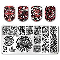 BORN PRETTY Nail Art Stamping Plates Image Template DIY Water Marble BPL-61