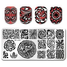 BORN PRETTY Nail Art Stamp Plate Manicure Image Template DIY Water Marble BPL-61