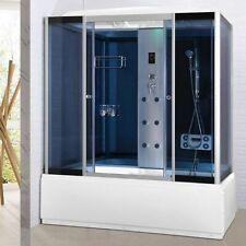 Box doccia 6 getti idromassaggio 170x85 con vasca ozonoterapia bluetooth led -3e