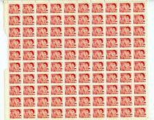 Weeda Canada 457pii VF MNH pane of 100, 4c carmine rose, WCB, LF, PVA CV $56