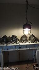 SCHACO ex geschützt Lampe Bauhaus Industrielampe Bunkerlampe Schutzgitter 30/40J