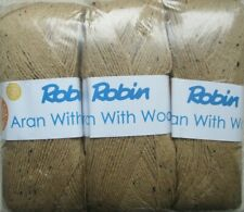 Robin Aran with Wool Knitting Yarn.3 X 400gram Balls Seashore 1079