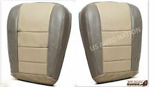 2002-2004 Ford Excursion Driver & Passenger Bottom Leather Seat Cover 2 Tone Tan