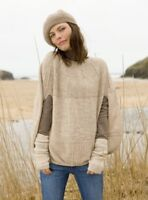 CELTIC SHEEPSKIN CLOTHING BEIGE KNITWEAR COCOON CAPE SIZE S VGC RARE