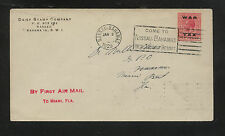 Bahamas, MR12 war tax stamp on first air mail 1929, Daisy stamp co    MS0804