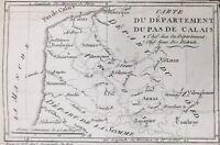 Pas de Calais en 1790 Hesdin Béthune Montreuil Desurennes Ardres Etaples Doulens