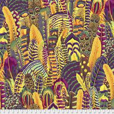 1/2 Yard Kaffe Fassett Feathers - GOLDX - Cotton Quilting Fabrics