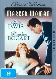 MARKED WOMAN DVD 1937 NEW Region 4 Bette Davis, Humphrey Bogart, Lola Lane RARE