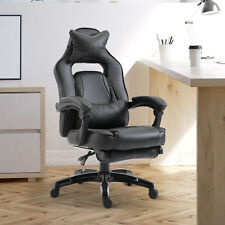 High Back Gaming Chair Computer Desk Chair Lumbar Cushion
