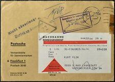 Germania 1969 nachnahme Remboursement, contanti alla consegna Copertura #C55937
