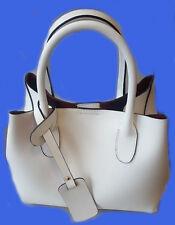 borsa in vera pelle donna panna bag made of genuine leather woman cream tracolla