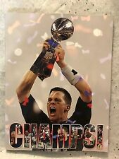 Champions Only Inc. NEW ENGLAND PATRIOTS CHAMPS Tom Brady BILL BELICHICK New!