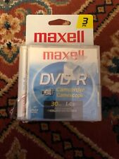 3 pack maxell dvd-r camcorder discs brand new