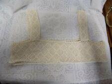 Antique Crocheted Bodice~Off White~Diamond Pattern